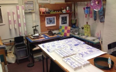 Andi Dakin lino print workshop